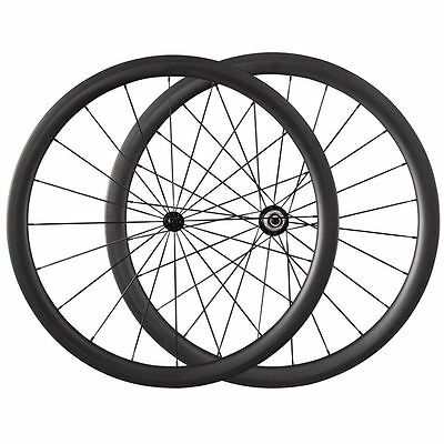 700C Light Bicycle 38mm Clincher Tubular Carbon Wheels Bicycle Road Bike