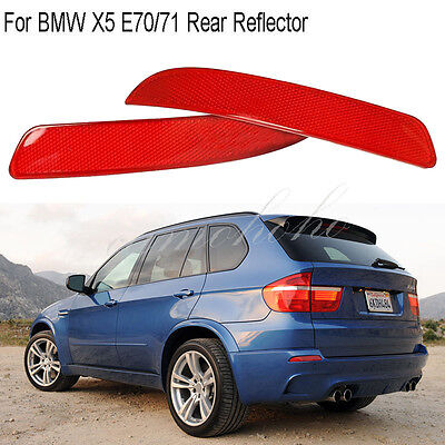 Pair Rear Sport Bumper Reflector Housing Light For BMW X5 E70/71