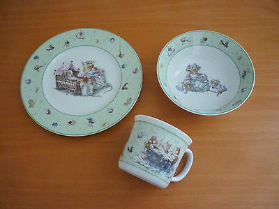 Royal Doulton Brambly Hedge Breakfast 3 Piece Children's Set - Plate, Bowl & Mug