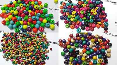 100-300 Wood Wooden Round/rondelle Luminous Beads Spacer Beads Jewellery Making