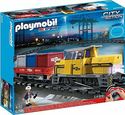 Playmobil City Action - 5258 - Remote Control (Rc) Freight Train - Brand New 1