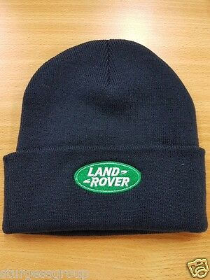 Land Rover Navy Beanie Hat with Embroidered Land Rover Logo
