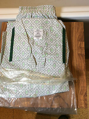 mens vintage pyjamas-unused- poly/cotton permanent press green patterned L 42""