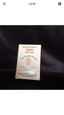 Thot tarot cards aleister Crowley rare white box 1983 edition large cards wiccan
