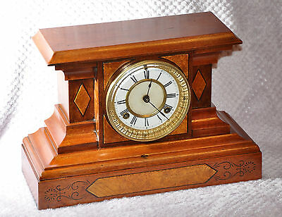 Waterbury Fillmore 8 Day Mantle / Shelf Clock  Ca. 1980's (1080)