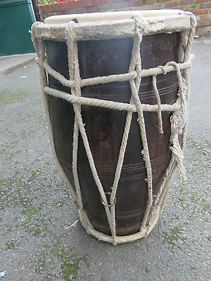 Indian Dholak Mango Wood Hand Drum.