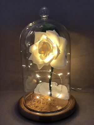 Beauty and the Beast Enchanted Rose (WHITE) **Order Now For Mothers Day **
