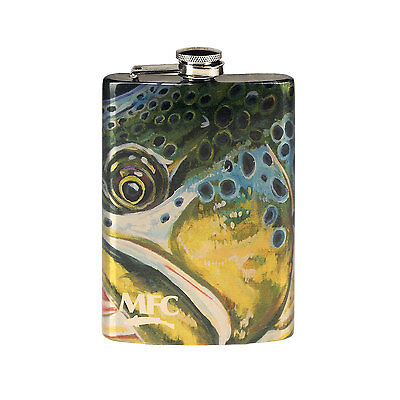 MFC Stainless Steel Hip Flask - Udesens  Montana Brown