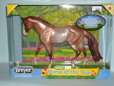 Breyer #62115 Liam~Strawberry Roan Quarter Horse~2015 Horse Of The Year Series