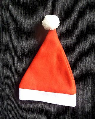 Baby clothes UNISEX BOY GIRL 0-3m Father Christmas fun pom-pom red/white hat