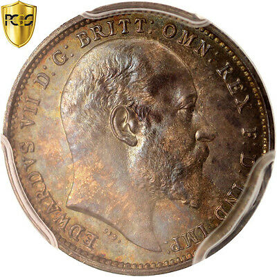 [#415996] Great Britain, Edward VII, 4 Pence, Groat, 1904, PCGS, PL67,...