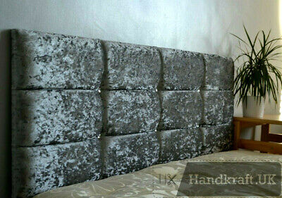 "High Quality Diamante Designer Headboard 20"" crushed velvet  3FT 4FT 4FT6 5FT"
