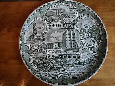Vintage Souvenir North Dakota Plate