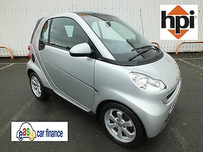 **2010 Smart Fortwo Coupe Passion 84Bhp Auto Nav & Roof Silver**