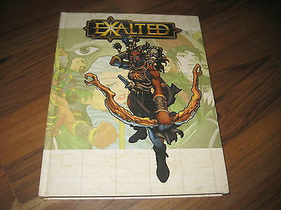 Exalted 1st Edition Core Rulebook Hardcover 2001 White Wolf WW8800 Top!