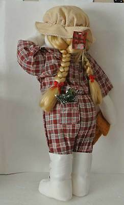 RARE Hide N Seek CHRISTMAS DOLL DECORATION Time Out Corner Xmas GIRL Collectible