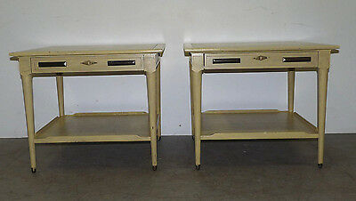 Pair Vintage Danish Style Mid Century Modern Square Side End Tables 111006