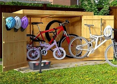 Wooden Storage Shed Outdoor Wood Chest Bikes Tools Garden Store Box Mower 3x6