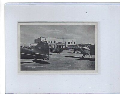 Early view of Oakland CA  airport postcard #4