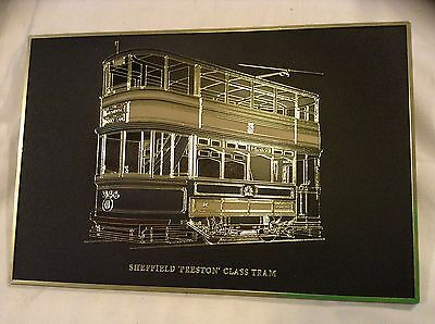 Sheffield vintage tram..wall plaque...