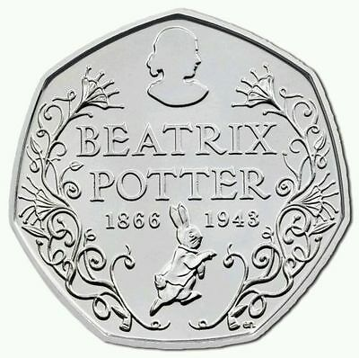 BEATRIX POTTER 50p ANNIVERSARY 150 YEARS - ***UNCIRCULATED FROM SEALED BAG***