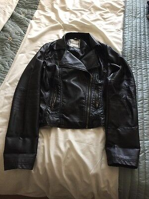 New Look Generation Leather Jacket Aged 14-15