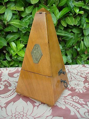 Antique Vintage Wooden Metronome Musical Instrument Working