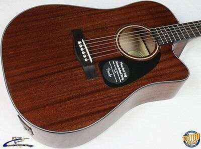 Fender CD-60CE All-Mahogany Acoustic-Electric Guitar w/ HSC Natural NEW! #23832