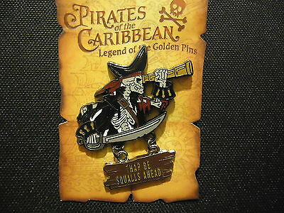 Disney Dlr Pirates Of The Caribbean Skeleton Telescope Pin On Card