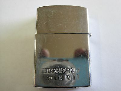 Vintage Ronson Wind II WindII lighter sparks nicely lid tight light wear