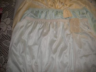Vtg NWT Cotillion Laura Gayle Lot of 3 Nylon Panties Sissy Queen Size 12 E527