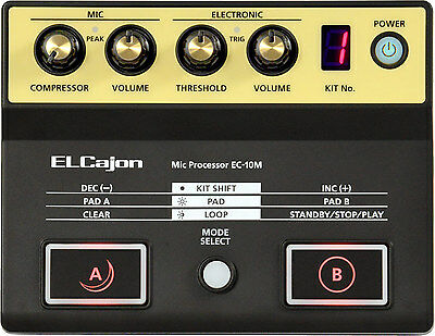 Roland Electronic Layered EL Cajon Mic & Processor Model EC-10M, NEW!! #38188