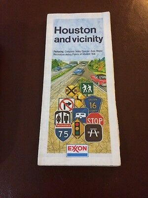1982 Exxon Houston and Vicinity Vintage Road Map