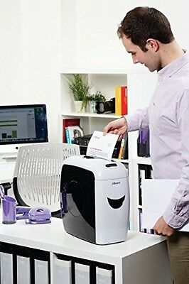 Rexel Cross Cut 7 Sheet Paper and Credit Card Shredder Pullout Home Office White
