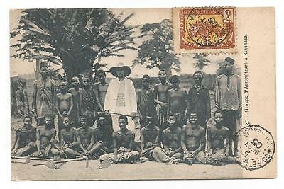 Card 1905 Congo Francais Unica Postcard Post Carte Postale Natives Francaise
