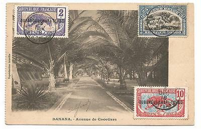 Card 1918 Maximum Rare Banana Congo 3 Stamps Belgie  Postcard Carte Postale