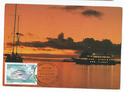 Card British Virgin Islands Norman Road Town 1986 U K  Maximum Postcard Post
