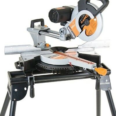 Evolution Mitre Saw Stand with Extensions Workstation Foldable Leg Tool Storage