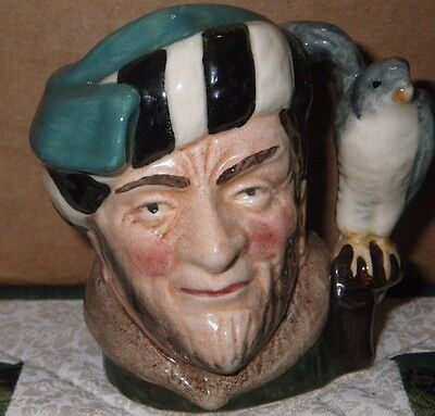 Royal Doulton miniature jug, The Falconer, D6547 introduced 1959