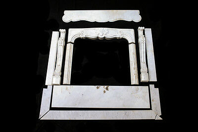 SOLID MARBLE FIREPLACE MANTEL - Antique GORGEOUS!