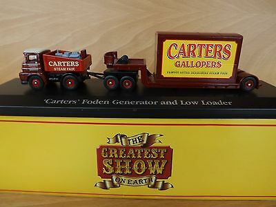 'Carters' Foden Generator and Low Loader  The Greatest Show on Earth Collection