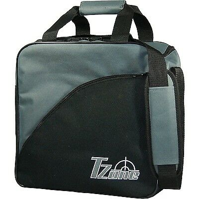 Brunswick TZone Single Tote Bowling Bag - Black/Charcol