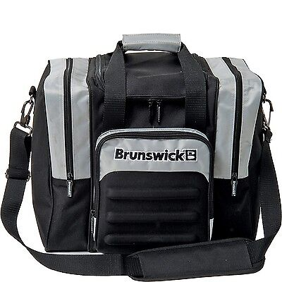 Brunswick Flash Single Tote Bowling Bag - Black/Silver