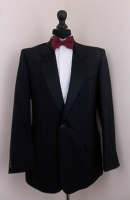 Mens James Barry Black Tuxedo/Dinner Suit Jacket Single Breasted  42S (A68)