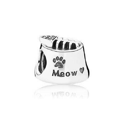 Pandora Sterling Silver Cat Bowl Charm