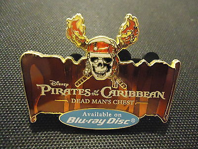 Disney Pirates Of The Caribbean Dead Man's Chest Blu-Ray Disc Logo Pin