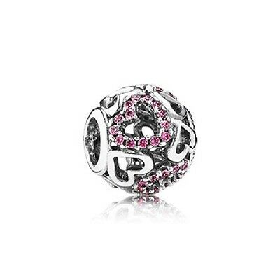 Pandora Fancy Pink Falling in Love Openwork Charm