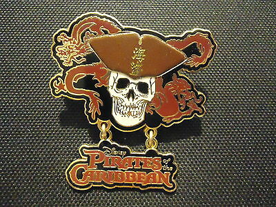 Disney Pirates Of The Caribbean Skull And Dragon Pin