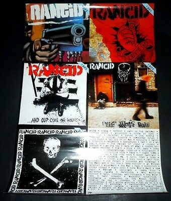 RANCID~Discography~13x19~Orig Promo Poster~Ex Condition~Epitaph~Hell Cat Records