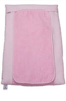 New Clair De Lune Waffle Pink Padded Baby Girls Changing Mat With Cover